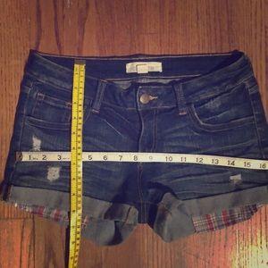2.1 Denim Shorts - 2.1 Denim Short Shorts, Distressed Sz 27